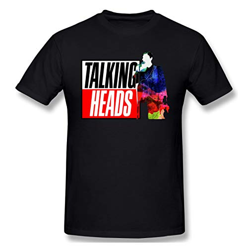 AJY Talking Heads -4 Men's Basic Short Sleeve T-Shirt Black 4X-Large