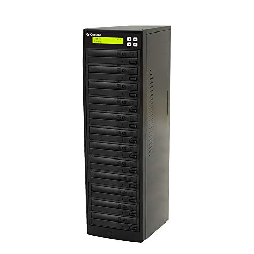 Optiarc 1 to 11 24X Burner M-Disc Support CD DVD Duplicator - Standalone Copier Duplication Tower