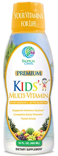 Premium Kids Liquid Multivitamin & Superfood -100% DV of 14 Vitamins for Kids. Multi-Vitamin for...