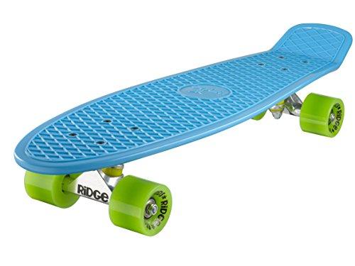 Ridge Skateboard Big Brother Nickel 69 cm Mini Cruiser, blau/grün