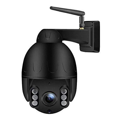 Tenvis T3875F - Telecamera IP Wi-Fi da esterno, Ultra HD (5.0 Megapixel), Motorizzata con Auto-tracking, Zoom Ottico 5x, Altoparlante, Microfono, MicroSD, ONVIF