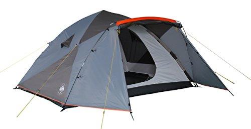 Lumaland Outdoor Pop Up Familienzelt Wurfzelt 6 Personen Zelt Camping Festival etc. 315 x 245 x 170 cm Blau/Grau
