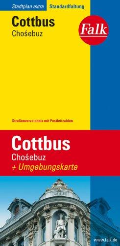 Falk Stadtplan Extra Standardfaltung Cottbus