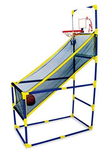 small foot 9188 Mobiler Basketballkorb für drinnen und draußen, mit Ball und Pumpe