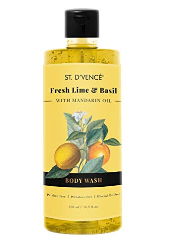 ST. D'VENCE Lime & Basil Body Wash With Mandarine (500 Ml), 500...
