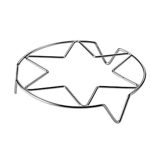 Steaming Rack Stand Trivet for Wok, Instapot, Kitchen Tool, Easy to Use, Convenient for Cook Seamer Plate, Stainless Steel, Multi-Functional for Home Kitchen, Two Sizes to You (A)