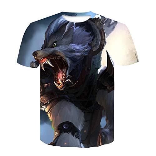 T-fashion shop Celebridad de Internet Mismo Estilo,Nueva Camiseta de Manga Corta de impresión Digital de Tendencia Digital 3D Tiger-5_Metro
