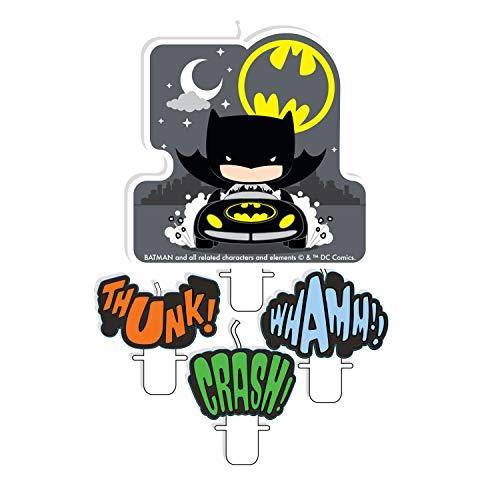 Amscan International 9907401 - Set di 4 candele Batman v Joker