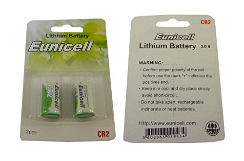 Eunicell 4 pilas de litio CR2 (2 blísteres con 2 pilas) 3 VOLT