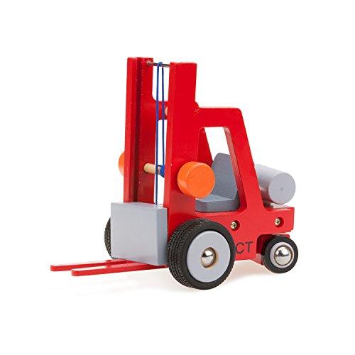 New Classic Toys Chariot Élévateur Jouet en Bois pour Enfant