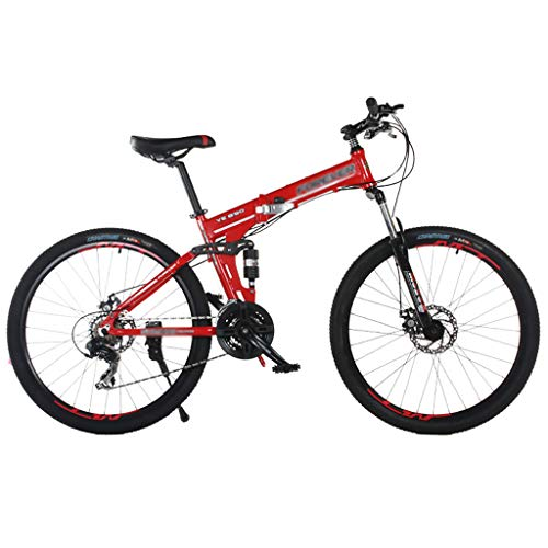 FDSH Bicicleta plegable, desplazamiento del freno de disco plegable, bicicleta con ruedas de 21 pulgadas a 21 velocidades, Unisex adulto, C, size