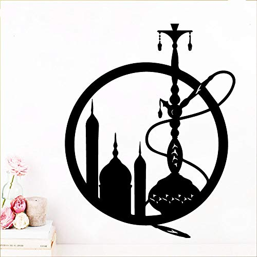 hetingyue Spaß Shisha Wandaufkleber Dekoration Küche Schlafzimmer Aufkleber Home Store Shop Dekoration Applique Kreative Aufkleber Dekoration Vinyl 30x37 cm