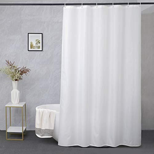 UFRIDAY 36 Inch Shower Liner, Solid White Fabric Shower Curtain, Waterproof, Suitable for Any Decor and Hotel, Stall Size 36 x 72