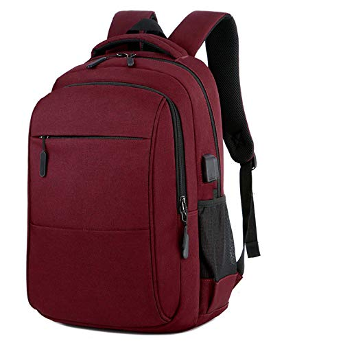 15.6 Inch Men and Women Laptop Backpack,Fashion College Backpack with USB Charging Port & Headphone Port, Durable Water Resistant Business Travel Backpack,Suitable for Leisure, Work, Hiking