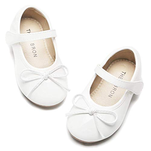 THEE BRON Girl's Toddler/Little Kid Ballet Mary Jane Flat Shoes