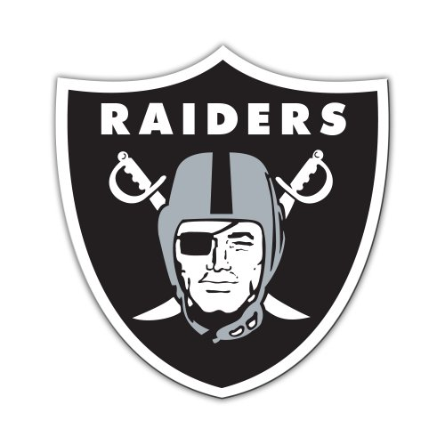 NFL Oakland Raiders 12-Inch Vinyl Logo Magnet