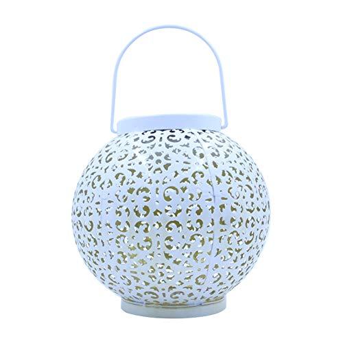 Lámpara solar para jardín, lámpara solar para exterior, hueca, LED, hierro, lámpara decorativa para exterior, lámpara colgante