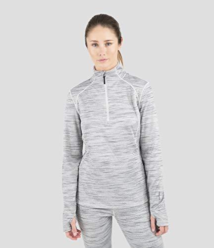 Terramar Vertix Damen Jacke mit halbem Reißverschluss, Grau Violett Melange, XS