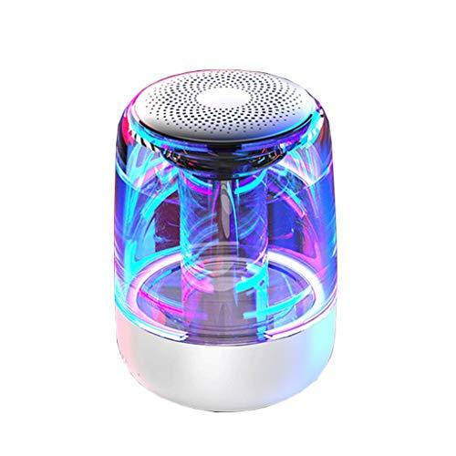 Bluetooth-luidspreker, hoog volume, subwoofer, draadloos, draagbaar, 3D-luidspreker, starthulp, mobiele telefoon, minitaster voor buiten, licht voor kleurrijke lampen, nachtlampje voor mand