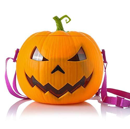 La Bolsa De Mensajero Mensajero Bolso De Las Señoras Bolso De La Calabaza De Halloween Candy Bag Pequeño Diablo De Un Hombro, Calabaza Luminosa Palomitas Hijos Adultos