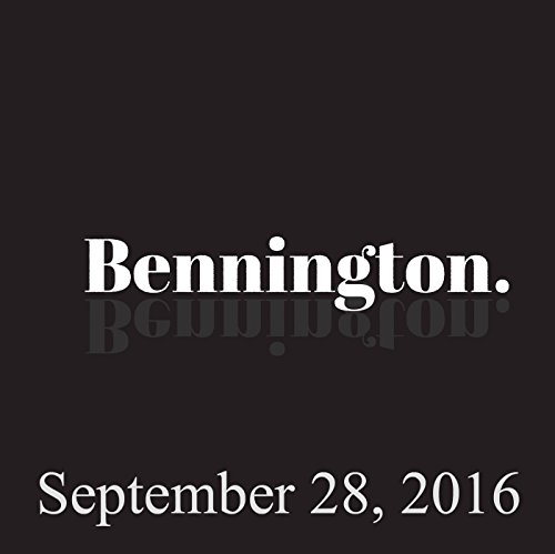 Bennington, September 28, 2016 audiobook cover art