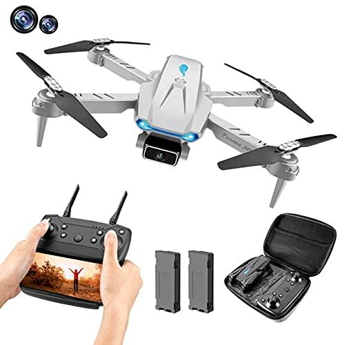 DCLINA Drone con Fotocamera, Fotocamera Pieghevole FPV WiFi 120 ° grandangolare 4K HD, Volo traiettoria, Mantenimento dell'altitudine, 2 batterie modulari, Adatto per Bambini, Adulti e Principianti