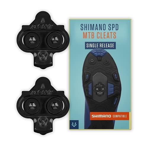Alphatrail Shimano SPD Tacchette Carter I Single Release I adatto per Spinning I Incl. Kit di montaggio I Compatibile con i Click Pedals i.a. Shimano XTR, Shimano XT, Shimano Saint, SLX & Deore