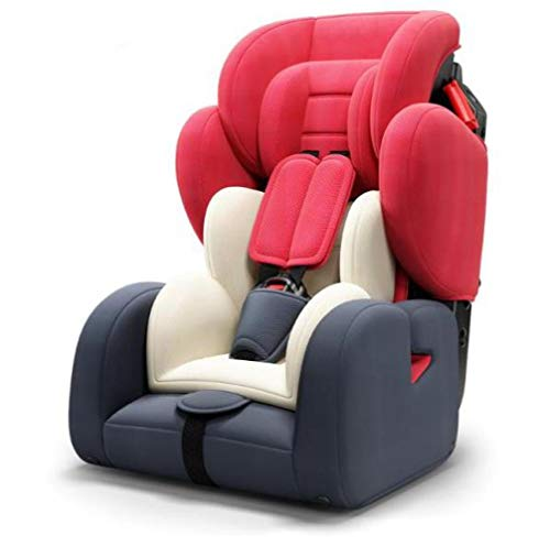 LQ&XL Silla de coche bebe silla coche Grupo 1/2/3 (0-36 kg, desde los 9 meses los 12 años), 5 puntos fijos, Puede sentarse o acostarse Protección lateral segura/B