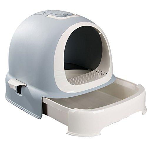 CHONGWFS Type de tiroir Bac à Litière Chat WC Protection de l'environnement Plastique/Facile à Nettoyer/Facile à Installer Convient pour Différents Types de carrosserie Toilette pour Chat