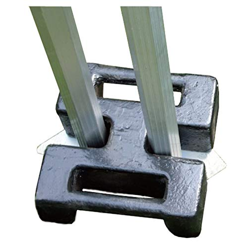 Steel H-Shaped DOUBLE Gazebo Weight 15kg/20kg/30kg, For Weighing Down 2x Side-by-side Gazebos (20)
