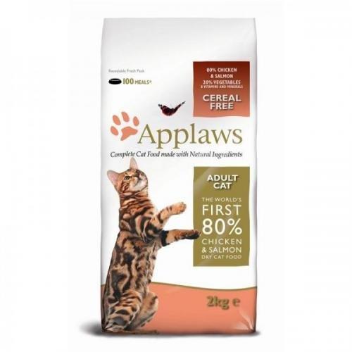 Applaws Katzentrockenfutter mit Hühnchen & Lachs 2 kg, Trockenfutter, Katzenfutter