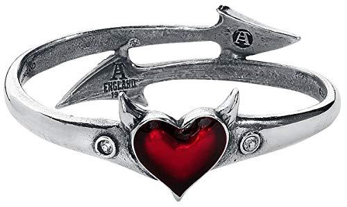 Alchemy Gothic Devil Heart Bangle Armreif Standard L