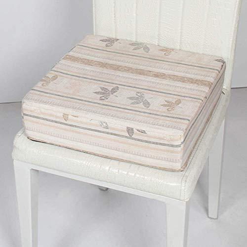 Cojines para Silla Presidente cuadrado de lino cojín portátil esponja suave del amortiguador de asiento de la cremallera invisible desmontable silla de refuerzo del amortiguador de la yoga de Suelo ac