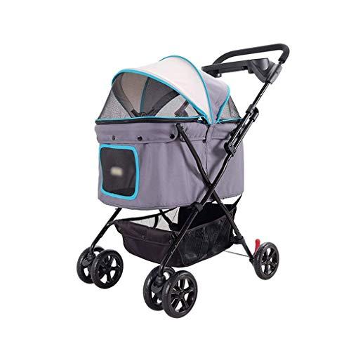 GZQDX Kinderwagen voor huisdieren, betaalbare kinderwagens voor meerdere huisdieren voor 1 middelgrote of 2 kleine honden of katten met Convertible luifel en eenvoudig opvouwbaar ontwerp