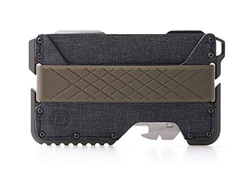 Dango T01 Tactical EDC Wallet w/ Multitool - Made in USA - Water-Resistant, Slim, Minimalist, Metal, RFID Blocking