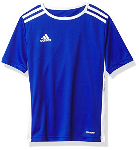 adidas Men's Soccer Entrada 18 Jersey, Bold Blue/White, Large