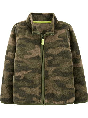 Simple Joys by Carter's Boys' Toddler Full-Zip Fleece Jacket, Camo, 4T