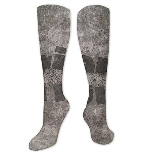 Calcetines de poliéster y algodón por encima de la rodilla, retro, unisex, para muslo, cosplay, botas largas, para deportes, gimnasio, yoga, descarga, bala voladora