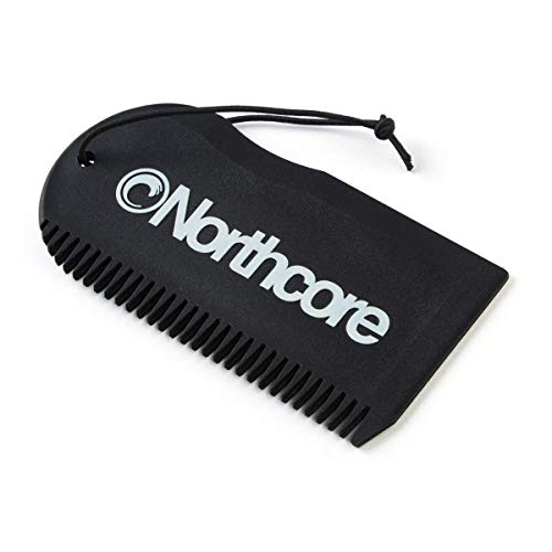 Northcore Surf Wax Comb Lija para Tabla, Adultos Unisex, Negro (Negro), Talla Única