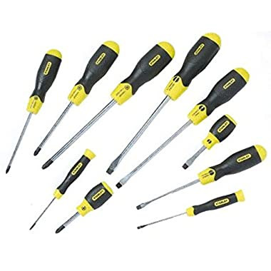 Stanley 2-65-014 PZ Screwdriver-Set Cushion Grip  (10 Piece), Multicolor