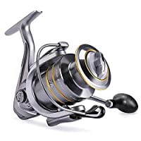 Spinning Fishing Reel, Resuntek Ultra Smooth Powerful Summer and Centron Saltwater Fishing Reel, 14+1 Stainless BB Light Weight, Aluminum Alloy Line Cup, Max 5.5:1 Gear Ratio