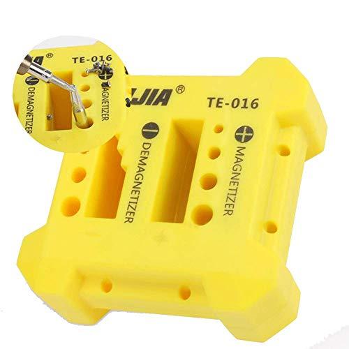 Magnetizer/Demagnetizzatore per magnetizzazione e smagnetizzazione di cacciaviti, punte e piccoli utensili magnetici (113 x 113 x 22 mm)