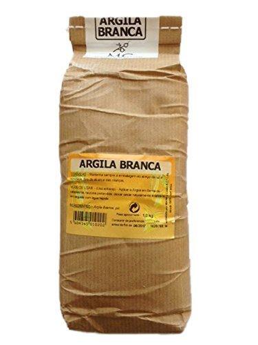Argila Branca - 1 x Kg Portugiesische Weiße Tonerde - Pulver für Masken und Peelings - 100 % Natur