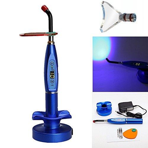 NSKI Wireless Cordless 5W Big Power LED Light Cure Lamp 1500mw/cm2 Blue.