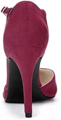 Burgundy high heel shoes _image1