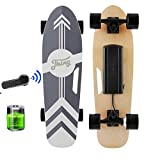 Tooluck Electric Skateboard with Remote, 350W Brushless Motor, 12MPH Top Speed, 8 Miles Range, 3 Speeds Adjustment, Max Load up to 220 Lbs, 7 Layers Maple Electric Skateboard for Adult Teens (Black)