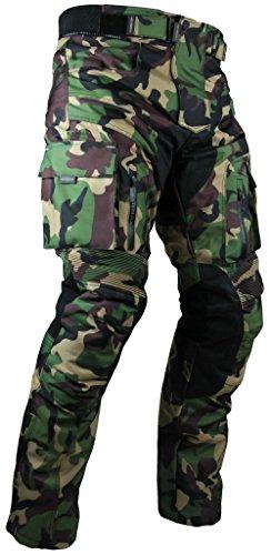 HEYBERRY Sportliche Motorrad Hose Motorradhose Camouflage Grün Gr. M