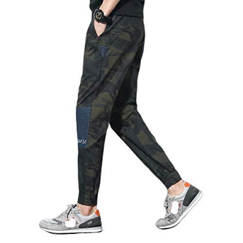 Pantalons pour Hommes Pieds de Poutre Casual Plus Size Classic Style rétro Couture Camouflage Fashion Beam Feet Salopette