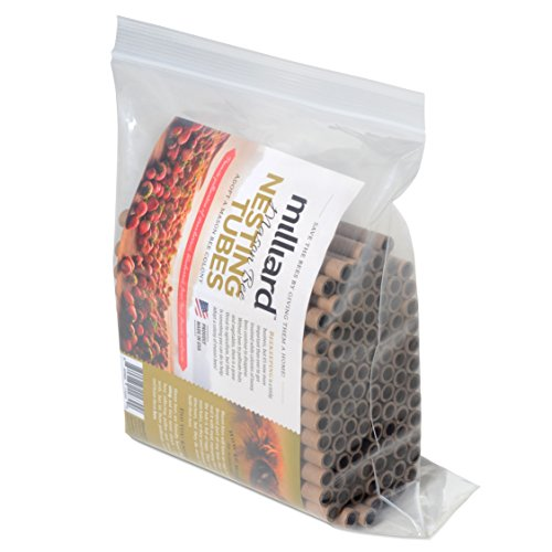 Milliard Mason Bee Nest Tubes Cardboard Refill 100 Tube Pack/Length 6 inch Opening Diameter 5/16 inches