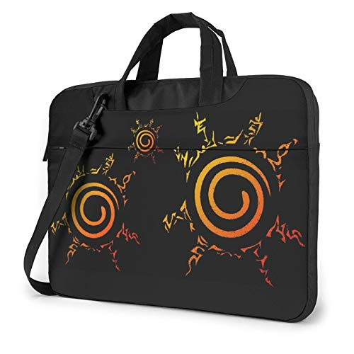 Naruto Uzumaki Nine Tails Seal Symbol Compatible with 13 Inch Thin Shockproof Laptop Shoulder Messenger Bag School Bags with Adjustable Strap,Computer Sleeve Bags for MacBook Notebook
